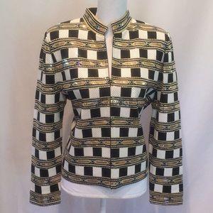 St. John Evening Gold Jacket Embellished Blazer